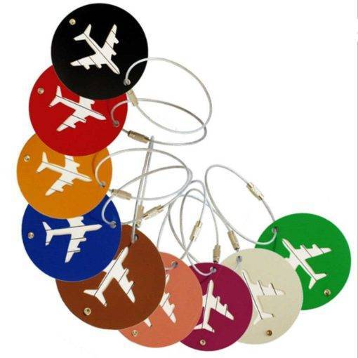 Cute High Quality Round Shaped Metal Luggage Tag