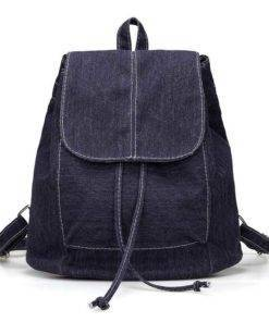 Denim Canvas Backpack Travel Bags & Backpacks