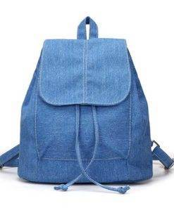 Denim Canvas Backpack Travel Bags & Backpacks Color: Sky Blue