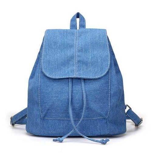 Denim Canvas Backpack
