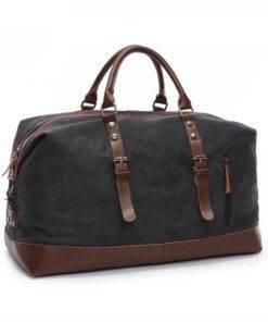 Canvas Leather Travel Duffel Bag