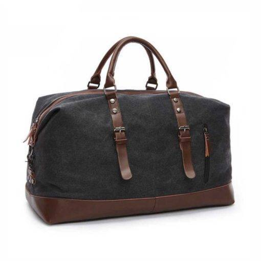 Canvas Leather Travel Duffel Bag Travel Bags & Backpacks