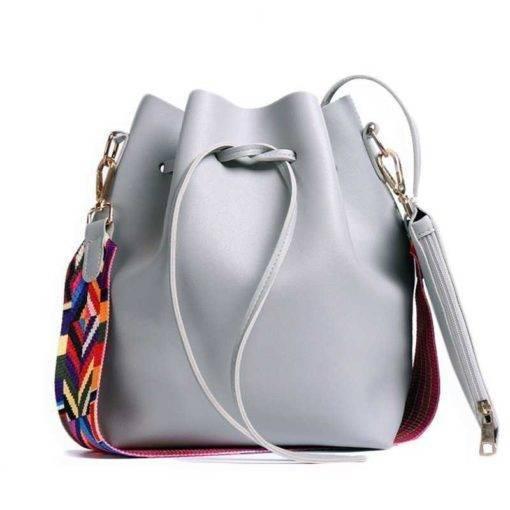 Colorful Strap Bucket Bag