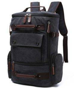Men Rucksack Canvas Travel Backpack