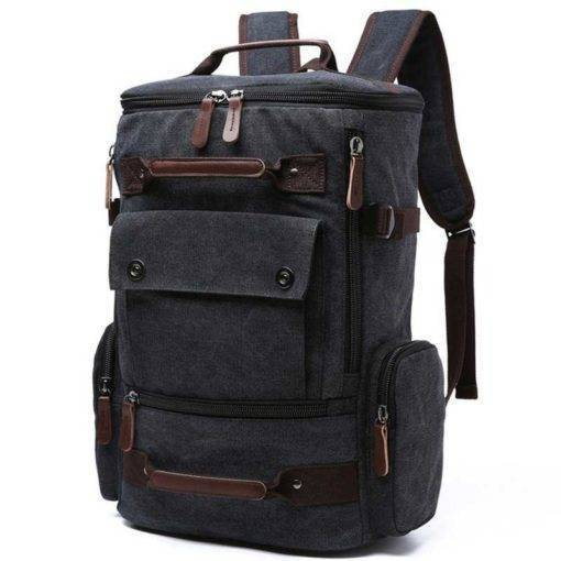 Men Rucksack Canvas Travel Backpack Travel Bags & Backpacks