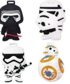 Star wars cartoon luggage tags