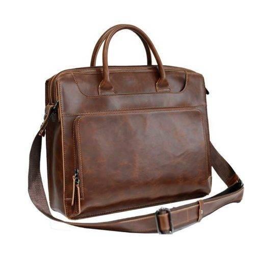 Crazy Horse Leather Men's Messenger Bag