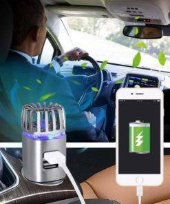 2-in-1 Car Air Purifier with Dual USB Charger Car Accessories
