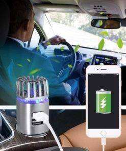 Purificateur d'air de voiture 2 en 1 avec double chargeur USB Accessoires de voiture