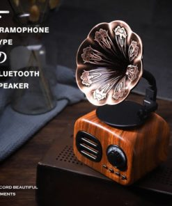 Retro Minimalist Bluetooth Speaker Travel Essentials