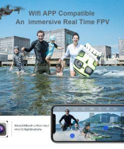 Eachine E58 WIFI FPV avec caméra grand angle HD 1080P Mode de maintien en hauteur Bras pliable RC Quadcopter Drone X Pro RTF Dron pour cadeau Voyage Essentials